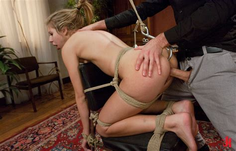 sex and submission blonde hanged in ropes naked with holes defenseless spanked and fucked in