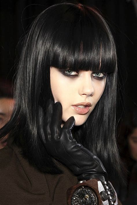 Jet Black Hair Looks Healthier by Jet Black The Trends In S Hairstyles And