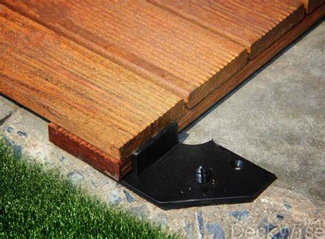 deck tile connectors tile fastener system hardwood deck