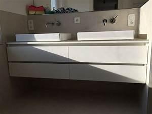 Waschtisch Komplett Mit Unterschrank : waschtisch unterschrank mit griffmulden mit glas ~ Watch28wear.com Haus und Dekorationen