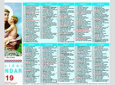 Katolički kalendar 1listovni 2019 1 Svetište MB Tekije