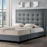 king size bed headboard Baxton Studio Francesca Transitional Gray Fabric ...