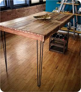 Country Style DIY Industrial Console Table Made From