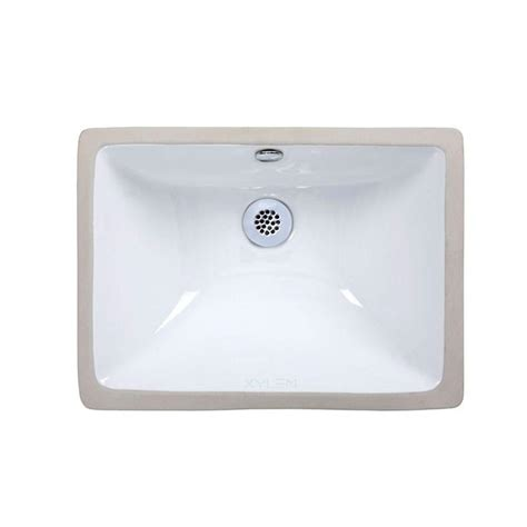 ryvyr undermount bathroom sink in white cum183rwt the