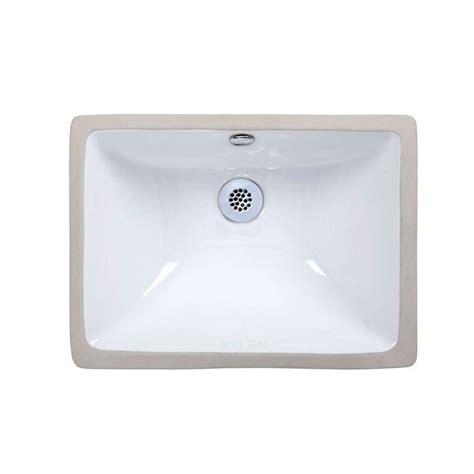 sink basin home depot ryvyr undermount bathroom sink in white cum183rwt the