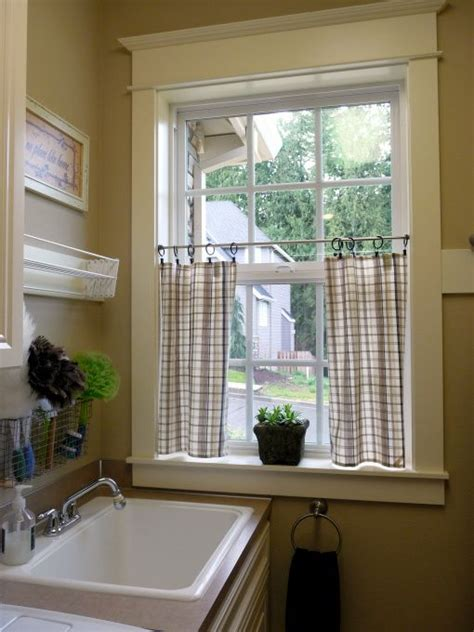 1000 ideas about laundry room curtains on