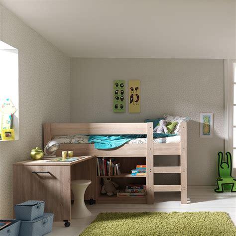 lit surélevé bureau lit surélevé avec rangements pour enfants ou adolescents