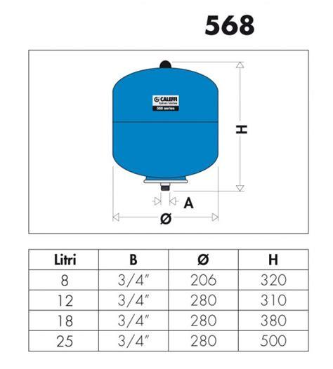 caleffi vaso espansione vaso espansione per impianti sanitari caleffi 568