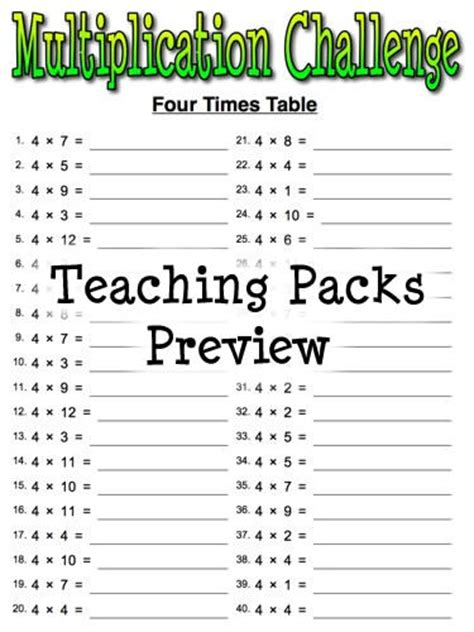 mixed times table worksheets tes addition worksheets