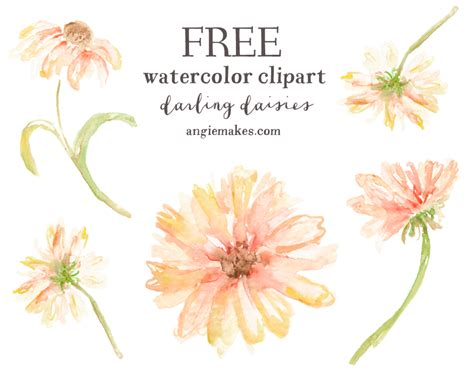 Free Flower Clipart Wildflower Clipart Watercolor Pencil And In Color