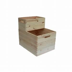 Caisse Bois Rangement : caisses de rangement en bois empilables jardin et saisons ~ Teatrodelosmanantiales.com Idées de Décoration