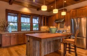 Rustic Kitchen Island with Extra Good Looking Accompaniment