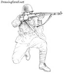 Soviet Soldier Drawing