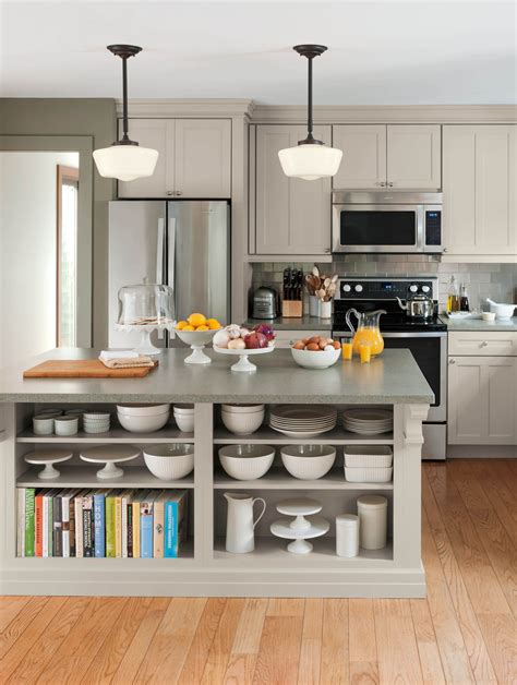 martha stewart kitchen storage living kitchens at the home depot open shelving martha 7391