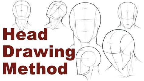 portrait drawing basics    draw  simple head