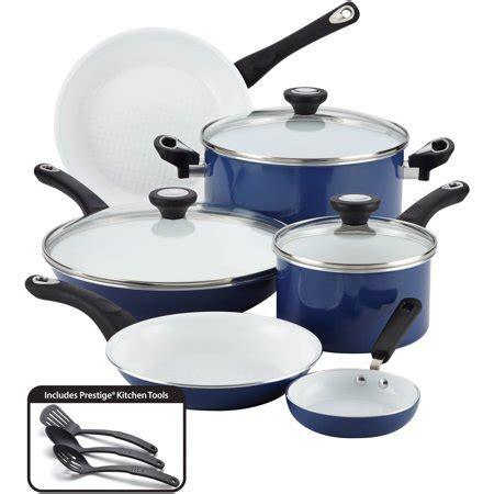 farberware purecook ceramic nonstick cookware  piece cookware set walmartcom