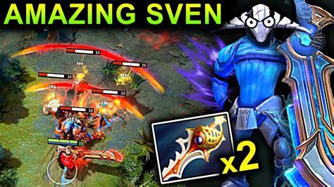 amazing sven patch 7 10 dota 2 new meta gameplay 42 2x sven youtube