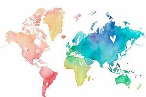 watercolour map | Tumblr