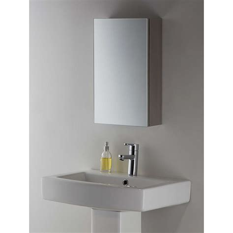 john lewis small single mirrored bathroom cabinet  john