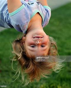 Girl, Hanging, Upside, Down, High-res, Stock, Photo