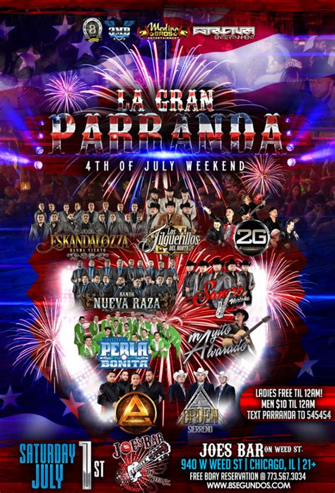 Chicago Boat Party 4th Of July by La Gran Parranda 4th Of July Edition Joes Bar