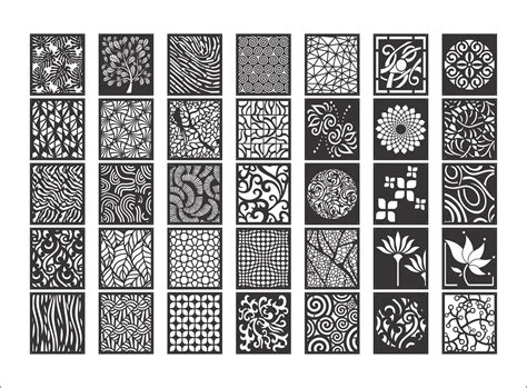 decorative screen patterns collection dxf file files cnc