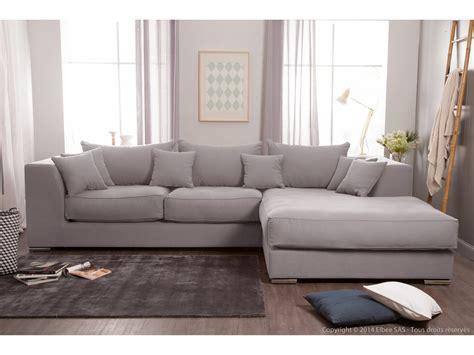 canapé d 39 angle en coton et avec grande méridienne