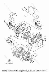 Yamaha Side By Side 2016 Oem Parts Diagram For Crankcase Cover  1