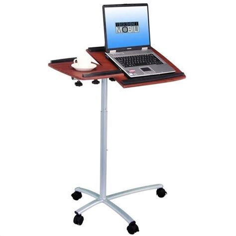 mobile laptop desk cart techni mobili stand desk mahogany mobile laptop cart ebay