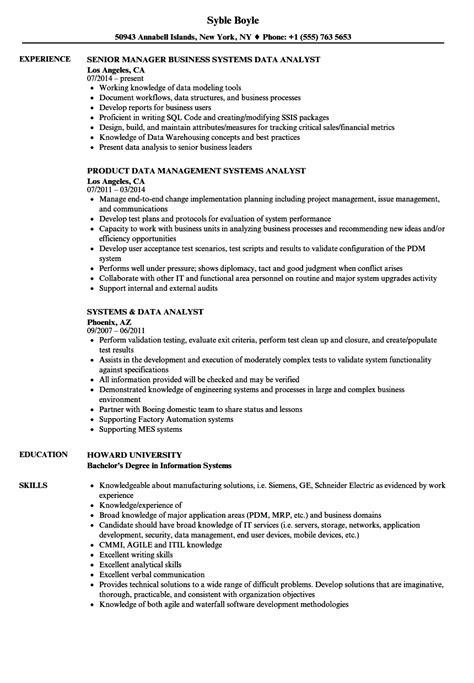 Data Analyst Resume by Systems Data Analyst Resume Sles Velvet