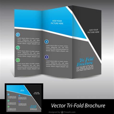 Black And Blue Brochure Vector