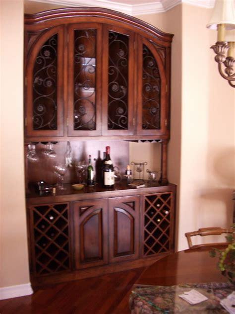 built in wine cabinet built in wine cabinet mediterranean dining room los