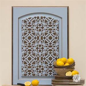 Modern Moroccan Lace Furniture Stencil Stenciling for