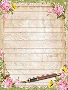 vintage style shabbby chic lined letter writing paper with With vintage letter writing paper