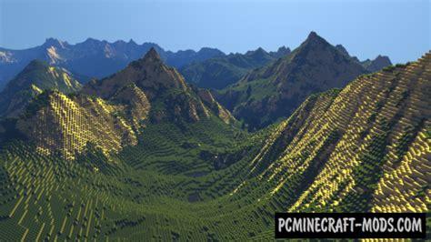 mountain landscape map  minecraft   pc
