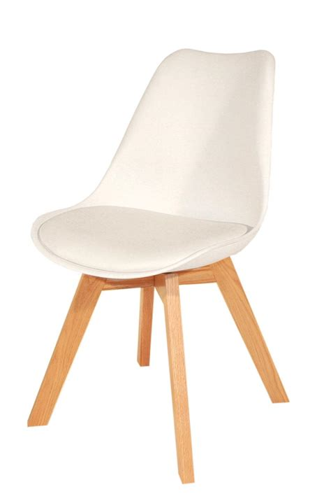chaise blanche bois chaise blanche pied en bois chaise design eames inspired