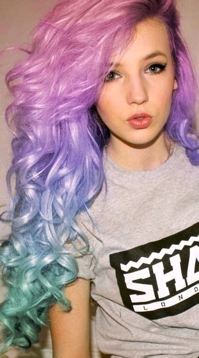 Pink Lavender And Turquoise Hair Haaair Turquoise