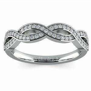 infinity twist diamond wedding ring in platinum With infinity twist wedding ring