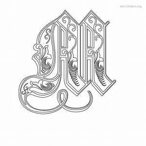 decorative letter m auto design tech With decorative letter stencils