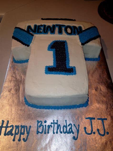 carolina panthers newton jersey cake cheeky cakes