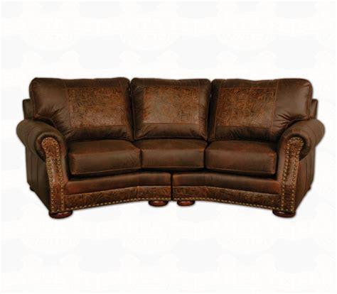 rustic leather sofas western style western sofa sleeper