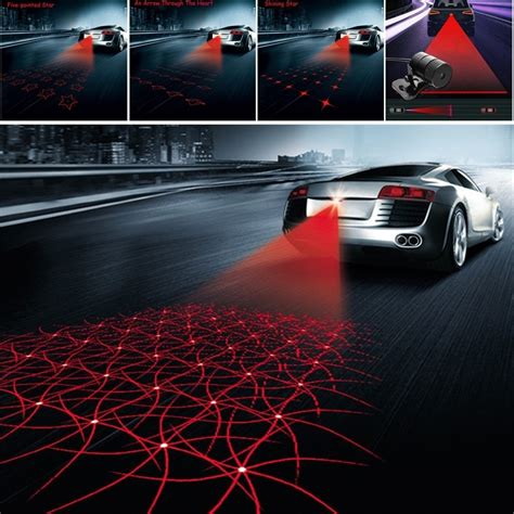 car styling laser anti collision rear end 12v led car fog