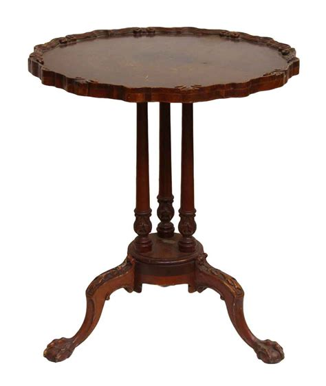 antique tables with claw feet carved wooden table with 3 claw feet legs olde good things