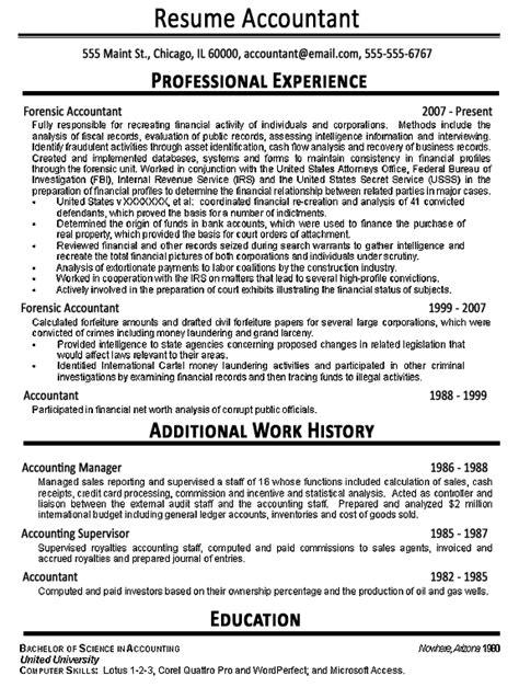 accountant resume exle sle