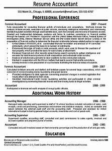 Accountant Resume Example Sample