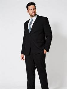 Big & Tall Black Essential Tailored Fit Stretch Suit ...