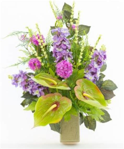 mazzi di fiori finti mazzo di fiori artificiali per loculo con anthurium e
