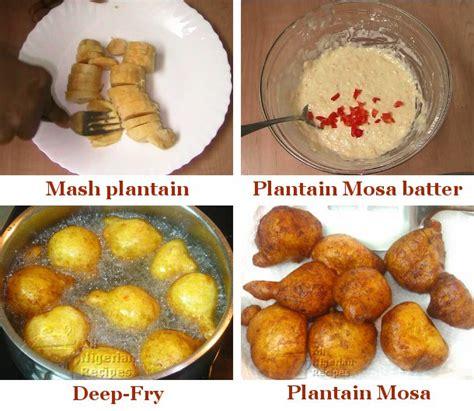 mosa ue cuisine recipe plantain mosa plantain puffs all