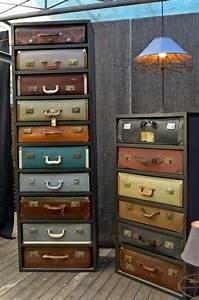 25 idees pour recycler vos vieux objets for Nice meuble etagere avec porte 16 pouf fleur 1