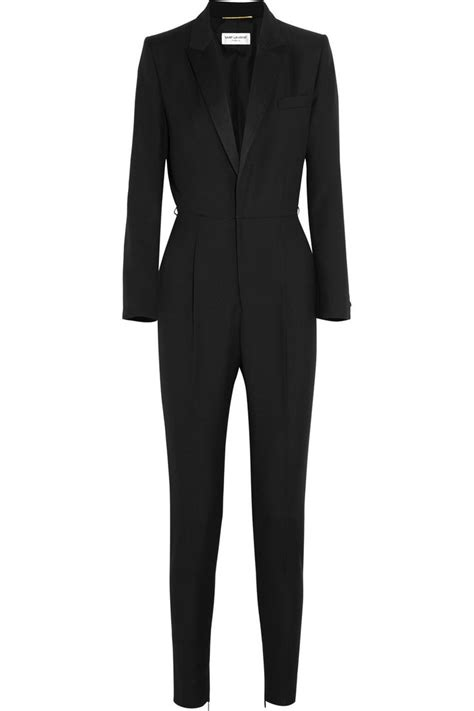 tuxedo jumpsuit wool gabardine tuxedo jumpsuit